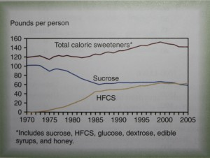 Added sugars in the food supply, 1970-2005.